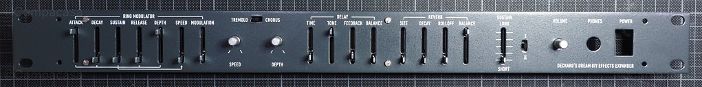 DDRM Expander front panel